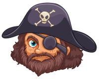 Cabeça do pirata Foto de Stock Royalty Free