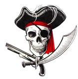 Cabeça do pirata ilustração stock