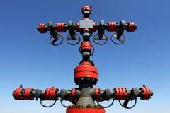 Cabeça do poço de petróleo Fotos de Stock Royalty Free