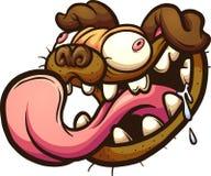Cabeça do Pug ilustração do vetor