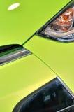 Cabeça do sedan no verde Imagens de Stock
