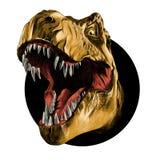 A cabeça do tiranossauro ilustração do vetor