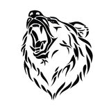 Cabeça do urso do urso ilustração royalty free