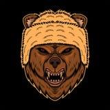 A cabeça do urso projeta a ilustração do vetor ilustração royalty free