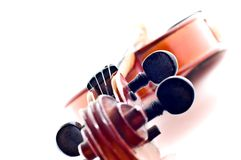 Cabeça do violino fotografia de stock royalty free