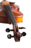 Cabeça do violino Foto de Stock