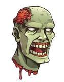 Cabeça do zombi dos desenhos animados Foto de Stock Royalty Free