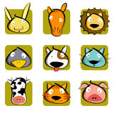 Cabeça dos animais Foto de Stock