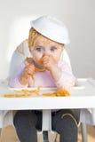 Cabeça dos espaguetes imagem de stock
