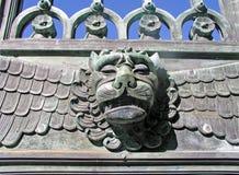 Cabeça dos leões imagem de stock
