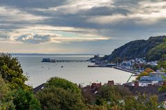 Cabeça dos Mumbles, Swansea, Reino Unido fotos de stock royalty free