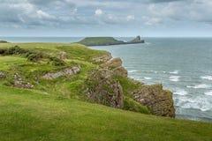 A cabeça dos sem-fins, Rhossili, Gales do Sul, Reino Unido Imagens de Stock