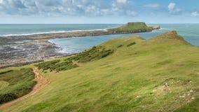 A cabeça dos sem-fins, Rhossili, Gales do Sul, Reino Unido Fotografia de Stock