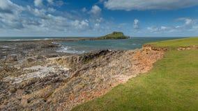 A cabeça dos sem-fins, Rhossili, Gales do Sul, Reino Unido Fotografia de Stock Royalty Free