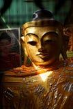 Cabeça dourada da Buda Foto de Stock Royalty Free