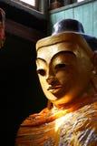 Cabeça dourada da Buda Fotos de Stock Royalty Free