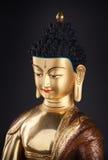 Cabeça dourada de Buddha Imagens de Stock Royalty Free
