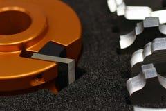 Cabeça e facas de cortador do Shaper Fotografia de Stock
