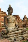 Cabeça em raizes da árvore, Wat Mahathat da Buda, Ayutthaya Foto de Stock Royalty Free