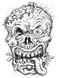 Cabeça esboçado do zombi Fotos de Stock