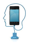 Cabeça esperta Smart do telefone Fotos de Stock Royalty Free
