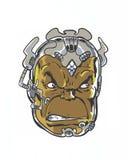 Cabeça estrangeira do monstro do caráter da banda desenhada Foto de Stock
