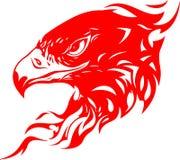 Cabeça flamejante 1 da águia Fotos de Stock Royalty Free