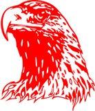 Cabeça flamejante 2 da águia Imagens de Stock Royalty Free