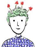 Cabeça floral Imagens de Stock Royalty Free