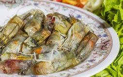 Cabeça fresca do camarão Foto de Stock Royalty Free
