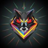 Cabeça geométrica do lobo ilustração do vetor
