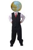 Cabeça global para o negócio Foto de Stock Royalty Free
