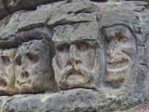 A cabeça grande esculpiu em 1846 por Vaclav Levy à rocha da pedra da areia foto de stock
