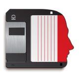 Cabeça humana como disquetes Imagem de Stock Royalty Free