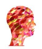 Cabeça humana. Ilustração abstrata dos triângulos ilustração royalty free