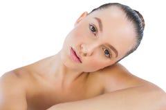 Cabeça intitulando modelo no ombro Fotos de Stock Royalty Free