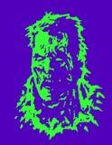 Cabeça irritada do zombi Ilustração do vetor ilustração stock