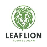 Cabeça Lion Leaf Fotografia de Stock Royalty Free