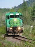 Cabeça locomotiva verde sobre Imagem de Stock