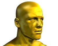 Cabeça masculina dourada Fotografia de Stock Royalty Free