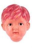 Cabeça masculina plástica da boneca fotografia de stock