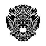 Cabeça mitológica dos deuses, arte tradicional indonésia Fotos de Stock