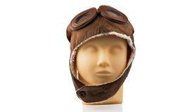 Cabeça modelo do manequim com tampão piloto Fotos de Stock Royalty Free