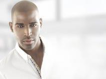 Cabeça modelo masculina Fotos de Stock Royalty Free
