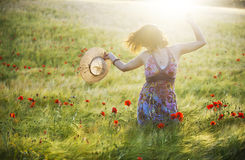Cabeça movente da mulher Foto de Stock Royalty Free