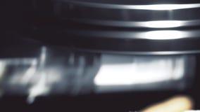 Cabeça movente do tiro macro do computador HDD vídeos de arquivo