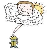 Cabeça nas nuvens Fotos de Stock