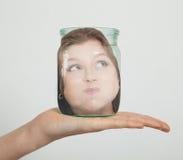 Cabeça no frasco Foto de Stock Royalty Free