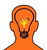 A cabeça pensa ilustração royalty free