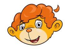 Cabeça pequena bonito do leão Imagem de Stock